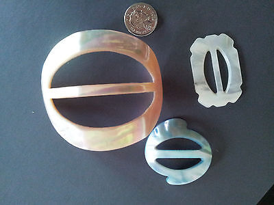 Vintage Mother of pearl belt buckles deco style