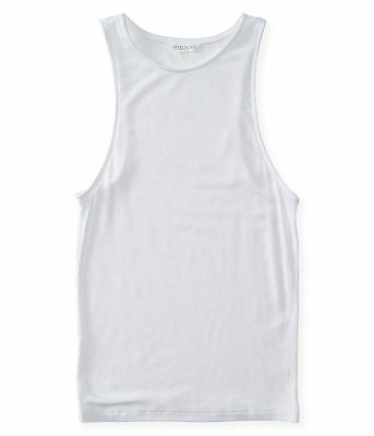NEW Lot of 2 Aeropostale Women's White Ribbed Tank Top (A1-82)