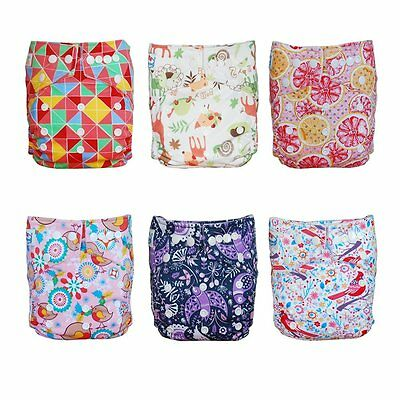 Babyfriend New Cute New Cute Adjustable Baby Kids Reusable Cloth Pocket Diaper 6