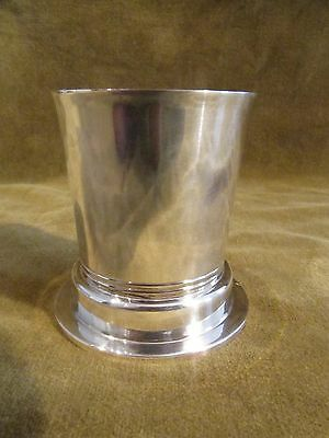 Gorgeous 1925 art deco french sterling silver egg cup Tetard 83g
