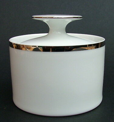 Thomas Medallion 4mm Wide Platinum Band 798 Pattern Sugar Box & Lid - in VGC
