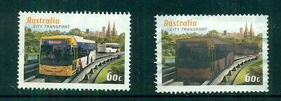 AUSTRALIA City Transport Adelaide bus Used stamps (normal and rub to reveal)
