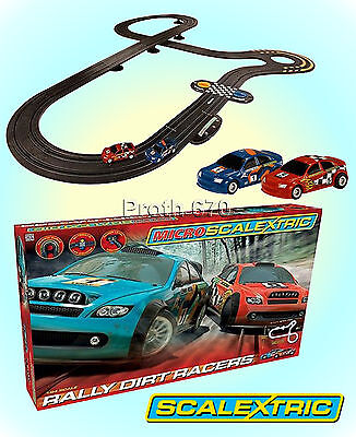 Micro Scalextric Rally Dirt Racers Racing Set 1:64 Scale G1096