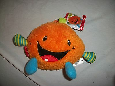 Fisher Price Giggle Gang Orange Fuzzy Laugh & Giggle Fuzzy Stuffed Toy New Nwt