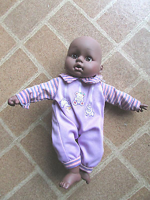 Uneeda African American Laughing Black Baby Doll Purple Clothes Sweetness