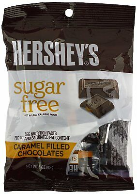 Hershey's Sugar-Free Caramel Filled Milk Chocolate - 3 Fluid Ounce (Pack Of 6)