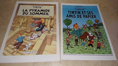 Lot 2 Affiches Tintin 40X30 Hommage Herge Tbe Harry Edwood
