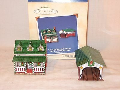 HALLMARK KEEPSAKE ORNAMENT Collector's GRANDMOTHER'S HOUSE COVER BRIDGE 2002