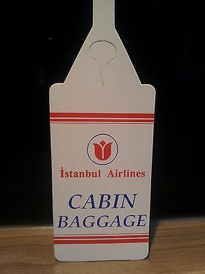 """Istanbul Airlines - Baggage / Name Tag - Gepäck-Anhänger - """"Cabin Baggage"""" - top"""