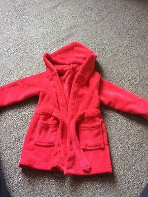 Red Dressing Gown 12-18 Months