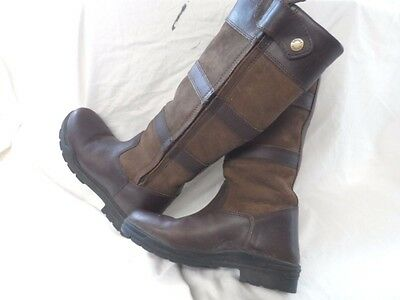 Shires Broadway Long Leather Waterproof Riding/country Boots Size Uk 7