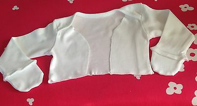 Baby scratch sleeves/ Sleep Suit With Mitts homemade For Babies With Eczema