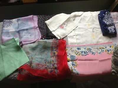 Collection of Silk Hankerchiefs Used