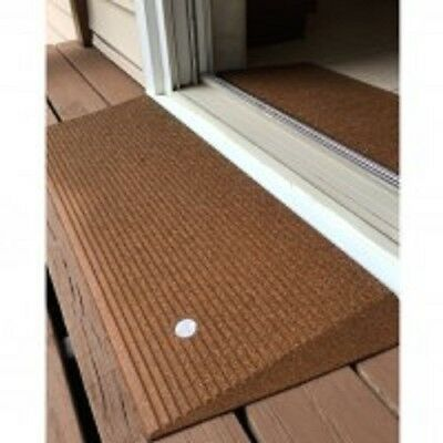 """EZ Access Angled Entry Mat 1.5"""" Rise Ramp - Hazelnut Brown Color"""