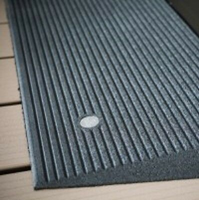 """EZ Access Angled Entry Mat 1.5"""" Rise Ramp - Storm Gray Color"""