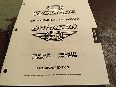 Johnson Evinrude parts catalog (2000) commercial outboards 100 hp