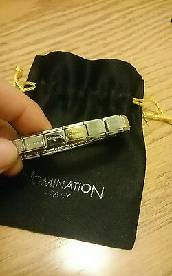18 Link NOMINATION CHARM BRACELET WITH PLAIN GOLD CHARM