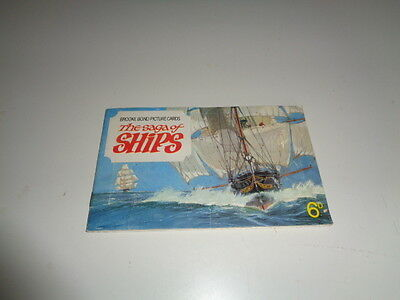 Brooke Bond Picture Cards album - The Saga of Ships (all 50 cards are in album)