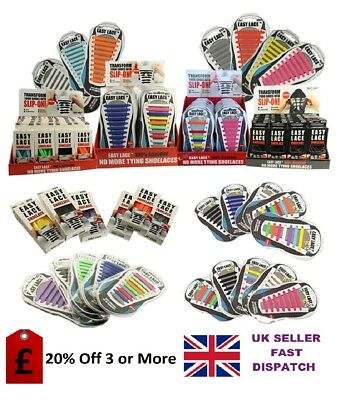 Easy Lace ® No Tie Shoelaces for Trainers, Converse,Smart Shoes &  Kids Shoes