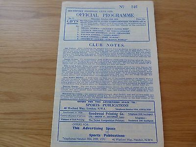 Southport v Mansfield Town Football Programme 1952