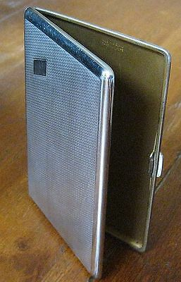Vintage Chromium Plate cigarette case - full size - collectable Lovely Condition