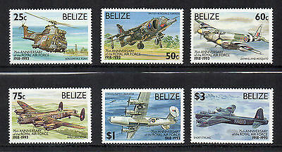 BELIZE - 1993, 75th Anniversary of Royal Air Force, MNH
