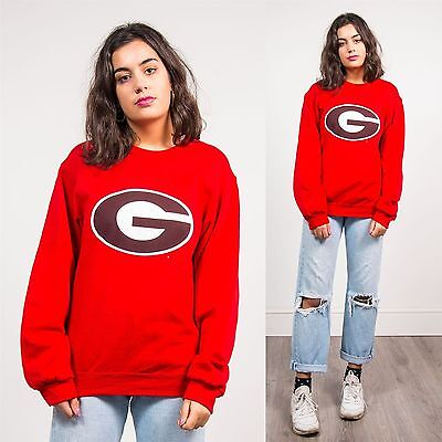 Vintage 90's Green Bay Packers Sweatshirt Jumper Usa Football Nfl College Red 10