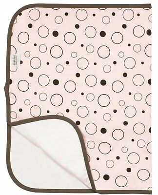 Kushies Deluxe Flannel Change Pad, Pink Crazy Bubbles