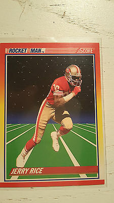 NFL Trading Card Jerry Rice San Francisco 49ers Score 1990 Rocket Man