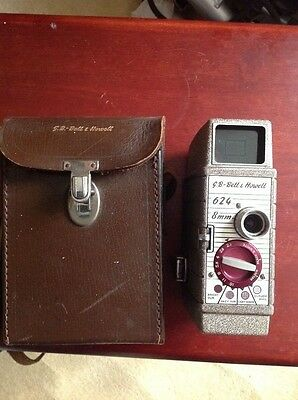 Bell & Howell 624 cine camera with original leather case