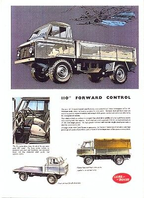 "Land Rover 110"" Forward Control - Modern postcard by Vintage Ad Gallery"