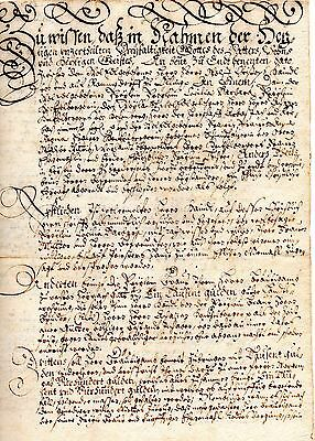 antique germany official document circa 1600