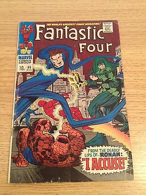 Marvel Fantastic Four #65  1st Ronan The Accuser Appearance GOTG