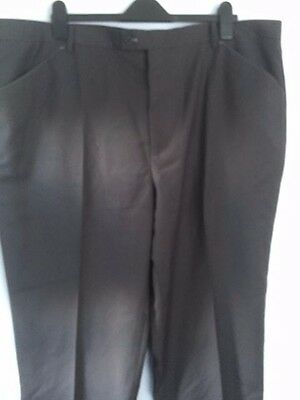 Mens Cotton traders smart charcoal trousers-46w/29 leg-BNWT