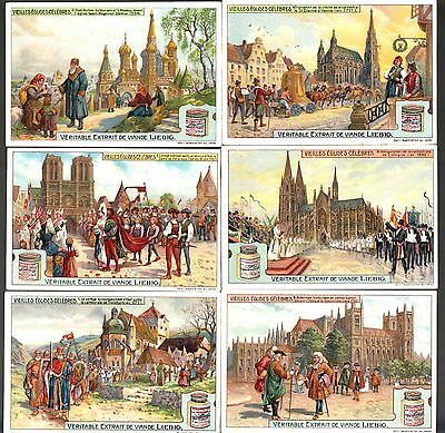 Liebig Tradecards S1011 Famous Old Churches (Belgian Issue) 1910
