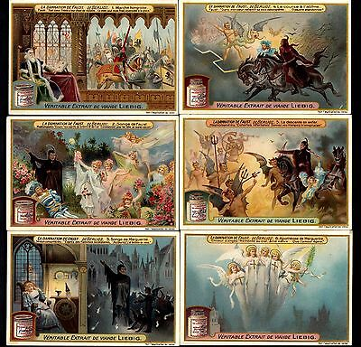 Liebig Tradecards S1027 The Damnation of Faust (Belgian Issue) 1911