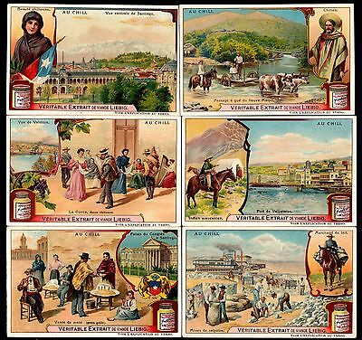 Liebig Tradecards S920 In Chile (Belgian Issue) 1908