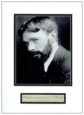 D H Lawrence Autograph Signed Display  AFTAL  UACC RD