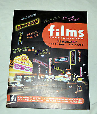 FILMS INCORPORATED 16MM FILM CATALOG 1956-1957  80 Pages Complete