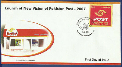 Pakistan 2007 Mnh First Day Cover Fdc New Vision Of Pakistan Post Information