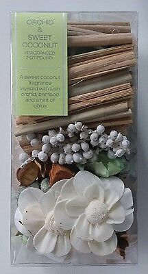 Orchid and Sweet Coconut Pot Pourri 250g Box NEW UNOPENED