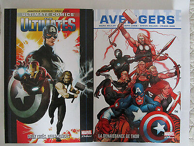 Lot de 2 album Marvel deluxe AVENGERS + ULTIMATES  en V.F