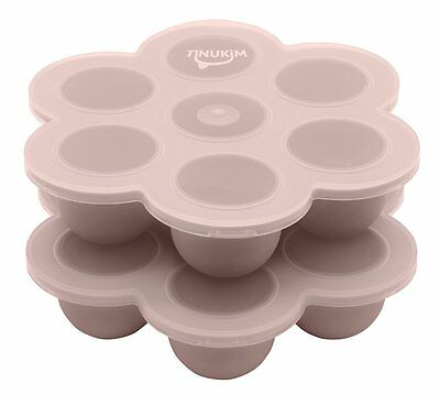 Tinukim Baby Food and Breast Milk Storage Tray with Lid - 2 oz. Portions Set of