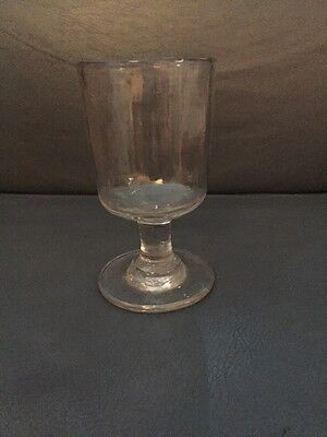 Heavy Antique Hand Blown, Hand Made Beer Ale Rummer  Goblet 14 Cm #1