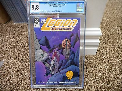 Legion of Super-Heroes 1 cgc 9.8 DC 1989 WHITE pages movie TV Keith Giffen MINT