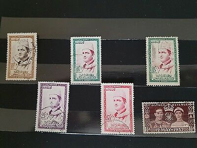 Maroc/morocco Vfu/lh Used Stamps.fronts And Backs Are Shown.