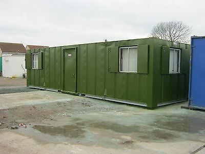 32ft x 10ft portable cabin shipping container site office + LIGHTS & HEATING =