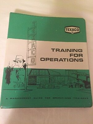 Texaco Training For Operations Guide 1960's Vintage