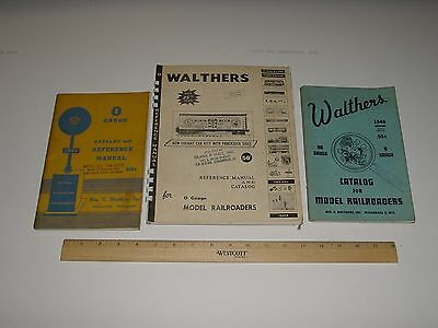 1948,1949,1958 Walthers O Scale Catalogs Lot of 3