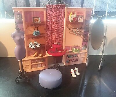 My Scene barbie Dressing Room Playset With Accessories Rare